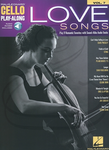HAL LEONARD Hal Leonard Play-Along Series Vol.7: Love Songs (cello)(audio access) Hal Leonard