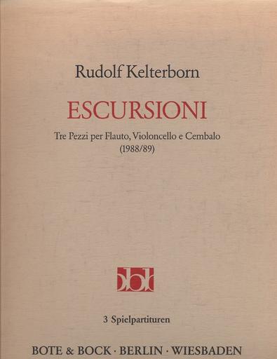 Bote & Bock Kelterborn, Rudolf: Escursioni (flute/cello/piano)