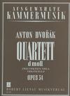 Dvorak, Antonin: String Quartet Op.34 in d minor