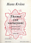 HAL LEONARD Krasa, Hans: Thema con Variazioni 1935-6 (string quartet) score and parts