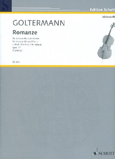 HAL LEONARD Goltermann, Georg: Romanze (Romance) op.17 (cello & piano)