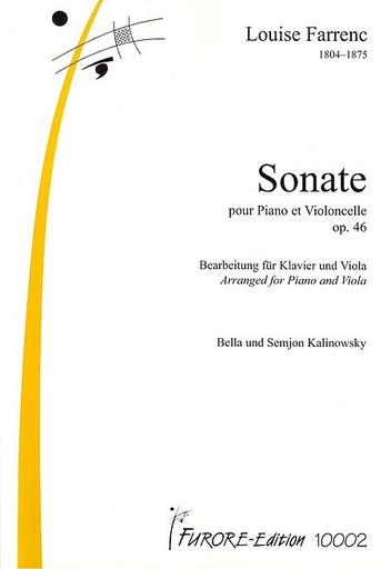 Carl Fischer Farrenc, Louise: Cello Sonata in B flat Op. 46 (cello & piano)