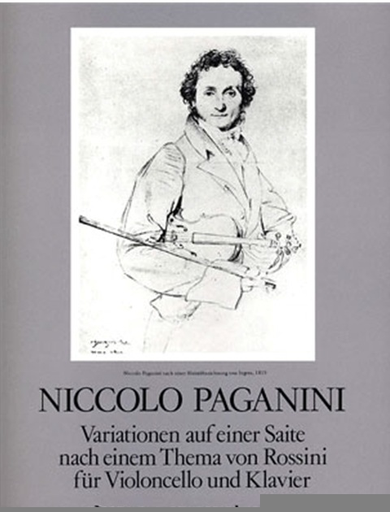 Paganini, Nicolo: Variations on One String ''Moses'' by Rossini (cello & piano)