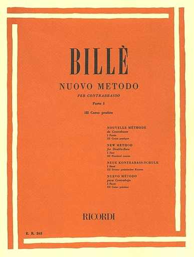 HAL LEONARD Bille: New Method, Pt.1, Vol.3 - Practical Course (bass) Ricordi