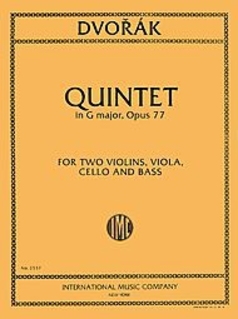 International Music Company Dvorak, Antonin: Quintet in G Op.77 (2 violins, viola, cello, bass)