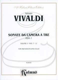 Kalmus Vivaldi: Sonatas da Camera a Tre Nos.7-12, Op.1, Vol.2 (2 violins, cello, & organ/piano) Kalmus