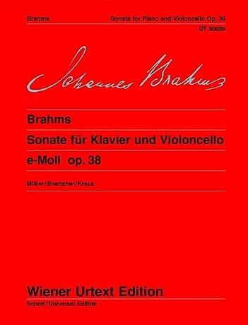 Carl Fischer Brahms, Johannes: Sonata Op38 No.1 in e minor-urtext (cello & piano)