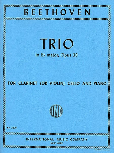 International Music Company Beethoven, L.van: Trio in E flat major, Op.38 (clarinet or violin, cello & piano)