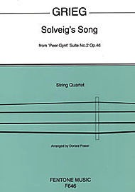 HAL LEONARD Grieg, Edvard (Fentone Series): Solveig's Song from Peer Gynt (string quartet)