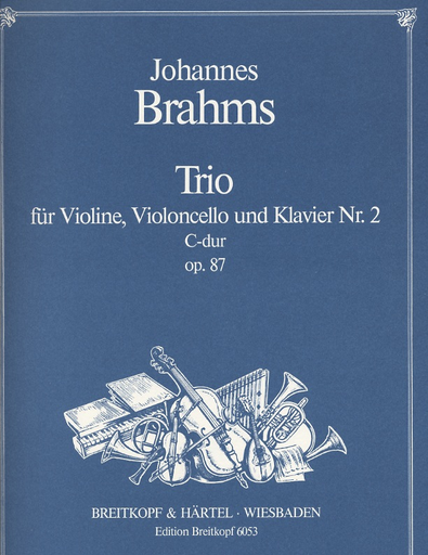 Brahms, Johannes: Piano Trio Op.87 No. 2 in C major (violin, Cello, Piano)