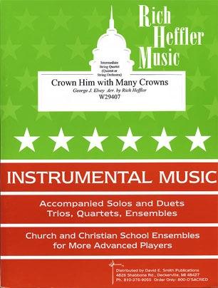 Elvey, George (Heffler): Crown Him with Many Crowns (string quartet)