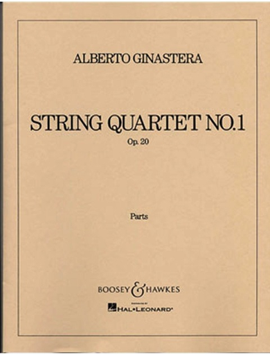 HAL LEONARD Ginastera, Alberto: String Quartet No. 1, Op. 20