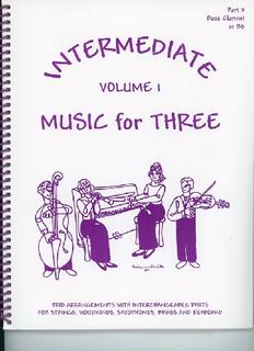 Last Resort Music Publishing Kelley, Daniel: Music for Three Intermediate Vol.1 (bass clarinet)