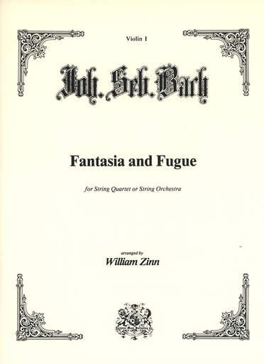 Carl Fischer Bach, J.S. (Zinn): Fantasia and Fugue in c minor transcribed for string quartet
