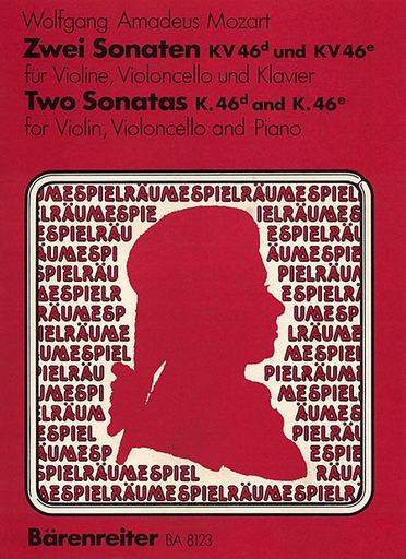 Barenreiter Mozart, W.A.: 2 Sonatas K46d, e 2 Sonatas for Violin and Cello with Piano accompaniment, Barenreiter