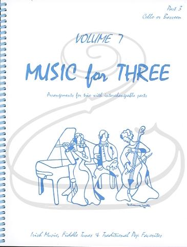 Last Resort Music Publishing Kelley: Music for Three, Vol.7, Part 3 - Irish Music, Fiddle Tunes, & Traditional Pop Favorites (cello/bassoon) Last Resort