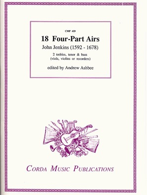 Jenkins, John: 18 Four-Part Airs (2 violins, viola, cello) score & parts