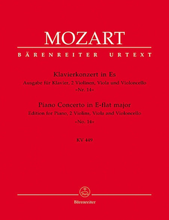 Barenreiter Mozart, W.A.: Quintet from Piano Concerto No.14 in E-flat major (2 violins, Viola, cello, piano)