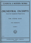 International Music Company Zimmerman: Orchestral Excerpts Vol.1 (bass) IMC