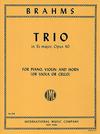 International Music Company Brahms, J.: Trio in Eb Op.40 (Piano, Violin, Viola) (piano, violin, horn)
