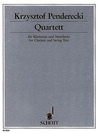 HAL LEONARD Penderecki, Krzysztof: Quartet (clarinet, violin, viola, cello)