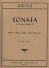 International Music Company Grieg, Edvard: Sonata Op.36 (bass & piano)