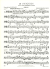 International Music Company Bach, J.S.: 14 Fugues from the Well-Tempered Clavier, Volume I  For string quartet (set of parts)