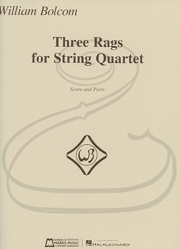 HAL LEONARD Bolcom: 3 Rags (string quartet) Marks Music Company