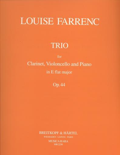 Farrenc, Louise: Trio in Eb, Op. 44 (clarinet, Cello, Piano)