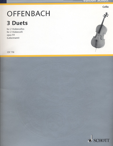HAL LEONARD Offenbach, J. (Lebermann, arr.): 3 Duets, Op.51 (2 Cellos)