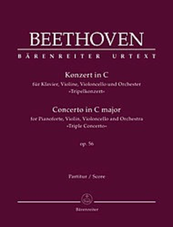 "Barenreiter Beethoven, L.v. (Del Mar): Concerto in C Major ""Triple Concerto"" Op.56 (violin, cello, & piano reduction) Barenreiter Urtext"
