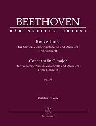 "Barenreiter Beethoven, L.v. (Del Mar): Concerto in C Major ""Triple Concerto"" Op.56 (violin, cello, & piano reduction) Barenreiter Urtext"