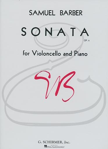 HAL LEONARD Barber: Sonata for Violoncello & Piano, Op.6 (cello & piano) Schirmer