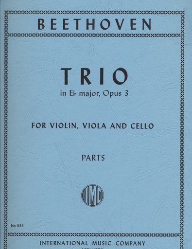 International Music Company Beethoven, L.von: Trio in Eb Major Op.3 (violin, Viola, Cello)