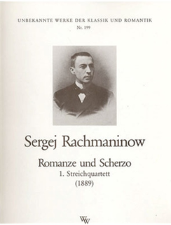 Wollenweber Rachmaninov, S.: Romance and Allegro-String Quartet No. 1, 1889