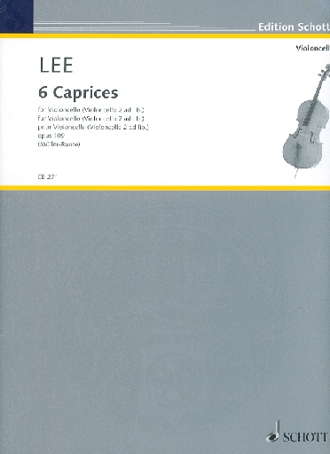 HAL LEONARD Lee, S. : 6 Caprices, OP. 109 (cello, cello ad lib.)