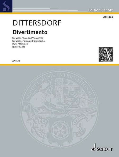 HAL LEONARD Dittersdorf, von K.D. (Lebermann, ed.): Divertimento Krebbs  131 (violin, viola, and cello)