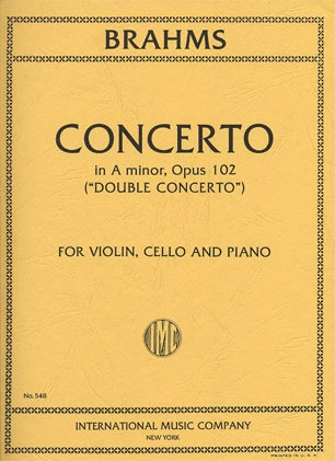 International Music Company Brahms (Fournier/Francescatti): Double Concerto in A minor, Op.102 (violin, cello, & piano reduction)