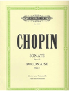Chopin, Frederic: Sonata Op.65, Polonaise Brillante Op.3 for (Cello, Piano) PETERS