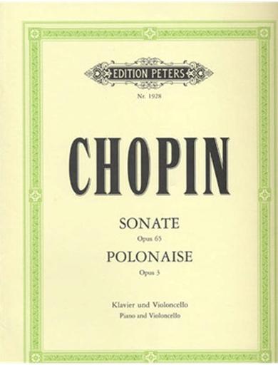 Chopin, Frederic: Sonata Op.65, Polonaise Brillante Op.3 for (Cello, Piano) PETERS