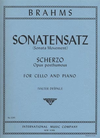 International Music Company Brahms, Johannes (Despalj): Sonatensatz-Scherzp Op.posth (cello & piano)