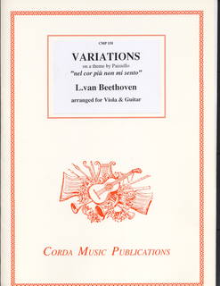 Beethoven (Gammie): Variations on a theme by Paisiello -nel cor piu non mi sento, arranged for viola and guitar by Ian Gammie