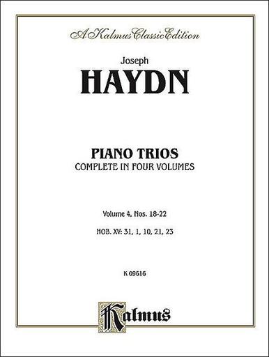 Kalmus Haydn, F.J.: Piano Trios Vol.4,#18-22 Kalmus edition (violin, Cello, Piano)