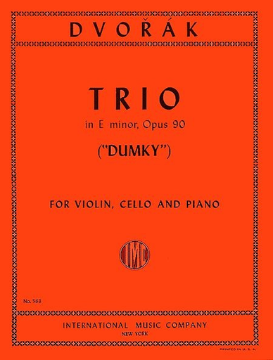"International Music Company Dvorak, Antonin: Piano Trio in E minor Op. 90 ""Dumky""(violin, Cello, Piano)"