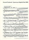 HAL LEONARD Penderecki, Krzysztof: Capriccio for Siegfried Palm (cello solo)
