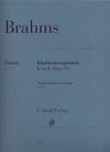 HAL LEONARD Brahms, J.:  Clarinet Quintet, Op.115, urtext (clarinet (A), 2 violins, viola, Cello)
