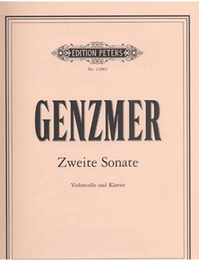 Genzmer, Harald: Zweite Sonate (cello & piano)