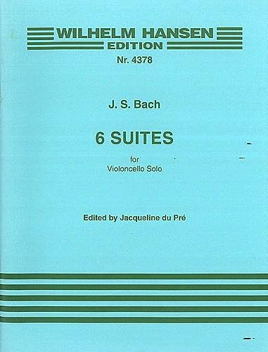 Edition Wilhelm Hansen Bach, J.S. (du Pré): 6 Suites for Violoncello Solo (cello) Edition Wilhelm Hansen