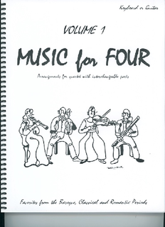 Last Resort Music Publishing Kelley, Daniel: Music for Four Vol.1 Favorites from the Baroque, Classical & Romantic Periods (piano or guitar)