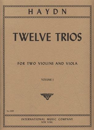 International Music Company Haydn (Lyman): 12 Easy Trios, Vol.1 (2 violins, & viola)